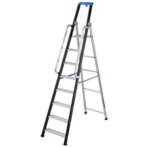 Escalera de doble hoja gierre 8 peldaños 4.32 m altura máxima