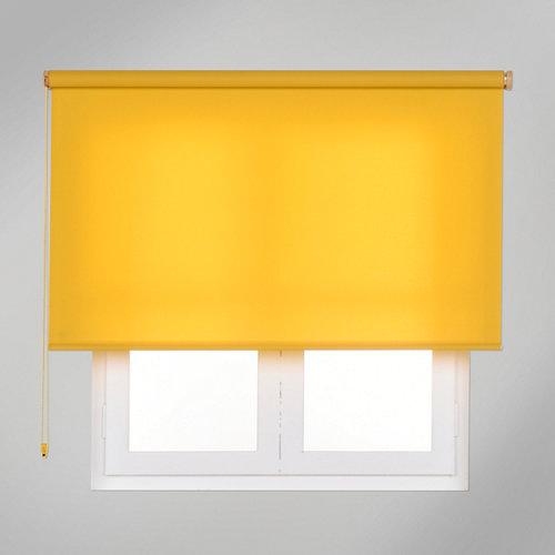 Estor enrollable translúcido trends amarillo de 90x250cm