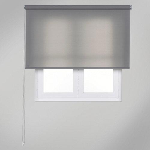 Estor enrollable translúcido trends gris de 90x250cm
