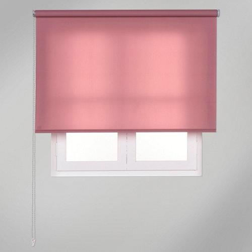 Estor enrollable translúcido trends rosa de 90x250cm