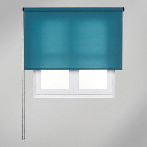 Estor enrollable translúcido trends azul de 105x250cm
