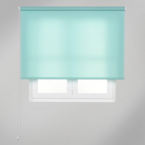 Estor enrollable translúcido trends verde de 105x250cm