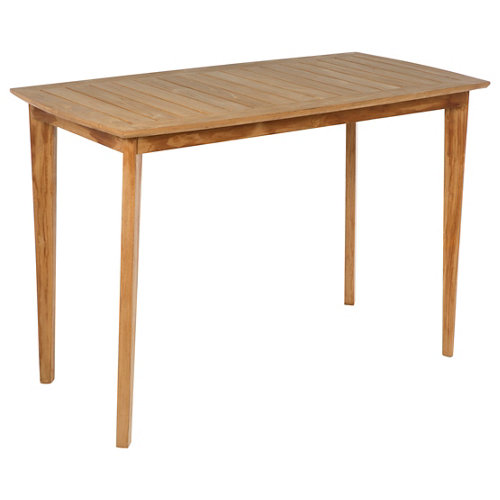 Mesa de jardín de comedor de madera noruega marrón de 78x100x150 cm