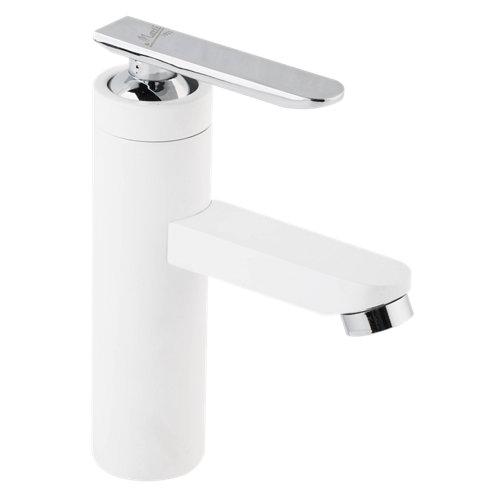 Grifo de lavabo martí victor cromo blanco