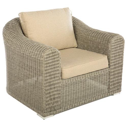 Set 2 sillones de exterior de aluminio y ratán barbados