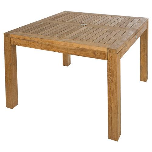 Mesa de jardín de comedor de madera australia marrón de 105x69x105 cm
