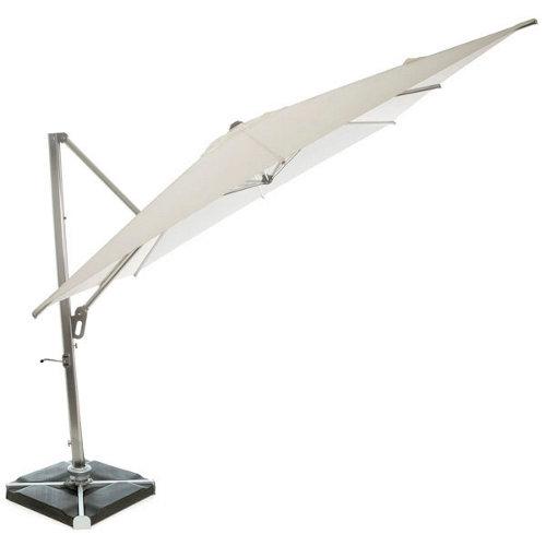 Comprar Parasol cuadrada de aluminio mykonos blanco 300x300 cm