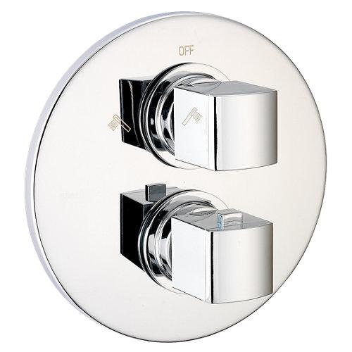 Grifo ducha termostático huber dado plata