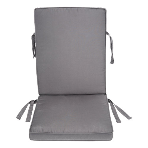 Cojín de exterior silla alta naterial matilda gris antracita