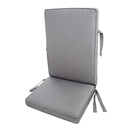 Cojín de exterior silla naterial matilda gris antracita