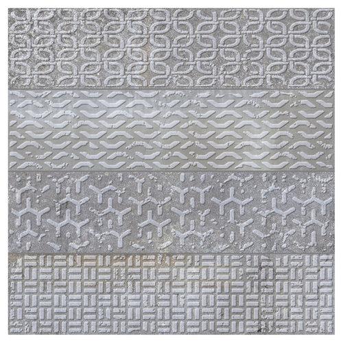 Azulejo cerámico brickbold 33,15x33,15 decorado gris