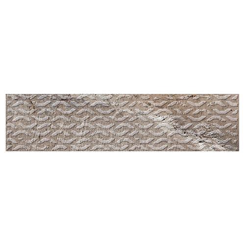 Azulejo cerámico brickbold 8x33,15 decorado ocre