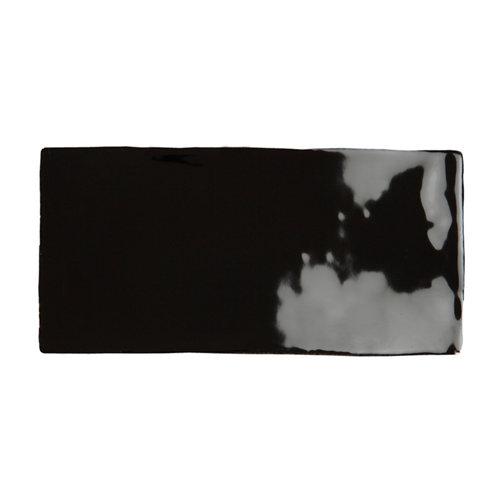 Azulejo cerámico bronx 7,5x30 negro