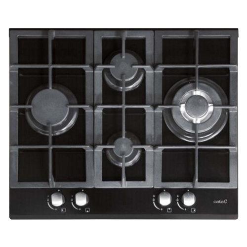 Placa de gas cata cristal lchi 631 bk con 4 zonas de cocción