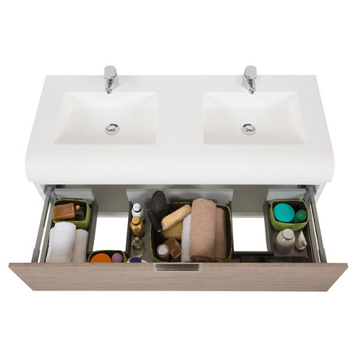 Mueble baño y lavabo capsul 120x50 cm