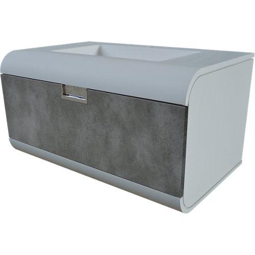 Mueble baño y lavabo capsul gris 80x48 cm