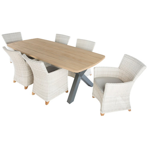 Conjunto de muebles de exterior trivento de madera para 6 comensales