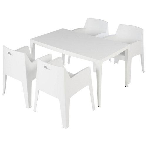 Conjunto de muebles de exterior master de resina para 4 comensales