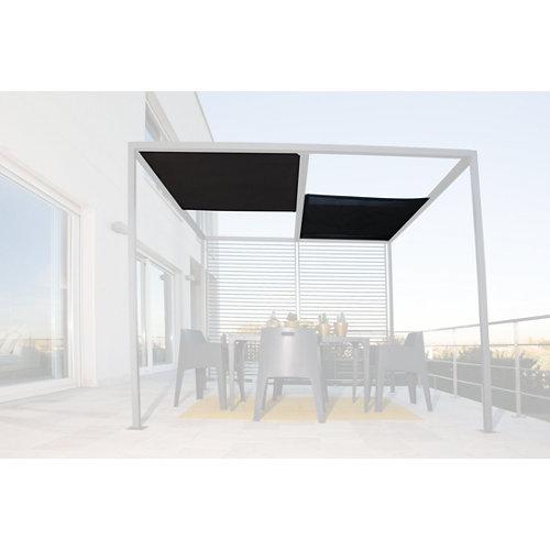 Toldo para pérgola baltimore negro 300x100 cm