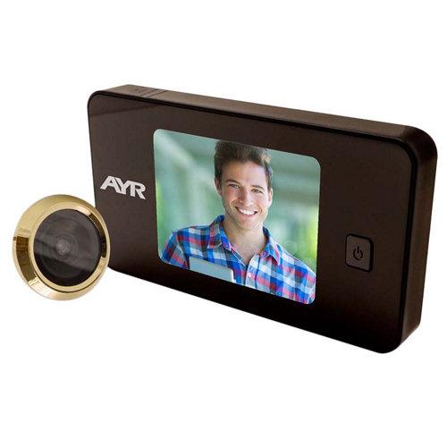 Mirilla digital con pantalla negro latonado mod 752