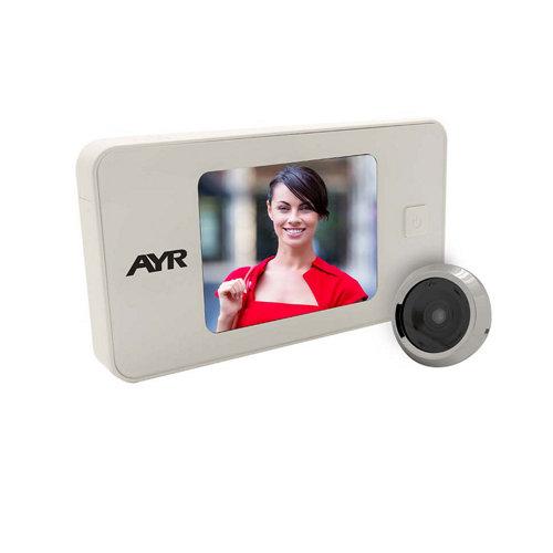 Mirilla digital con pantalla blanco latonado mod 752