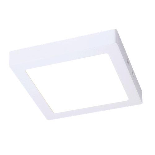 Foco downlight led superficie cuadrado blanco 12w 4000k ip44