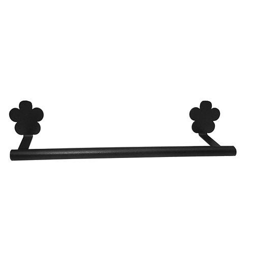 Toallero provenza negro brillante 34x6 cm