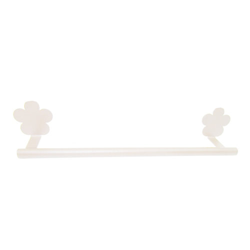 Toallero provenza blanco brillante 40x6 cm