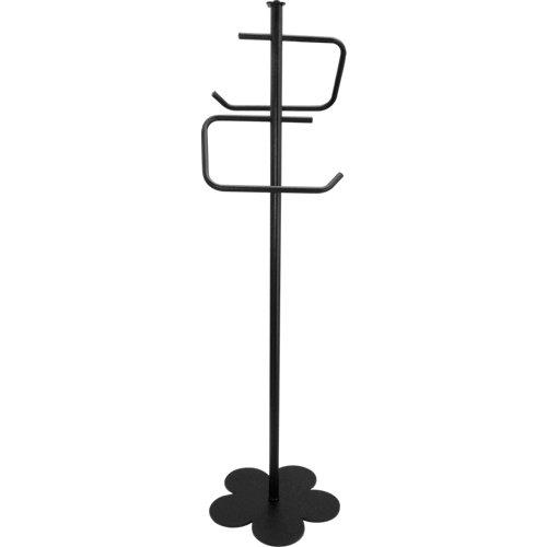 Toallero de pie provenza negro lacado 30x96 cm
