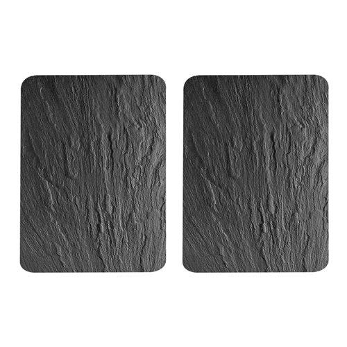 Cubre vitrocerámica de cristal 2 piezas pizarra 52x30 cm