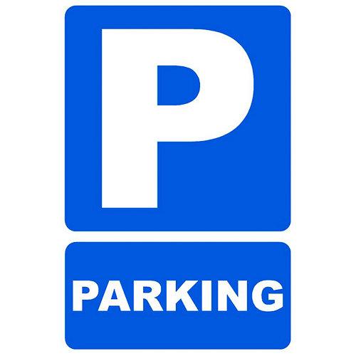 Cartel parking 34x23cm