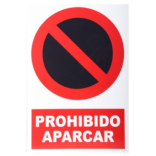 Cartel prohibido aparcar 34x23cm