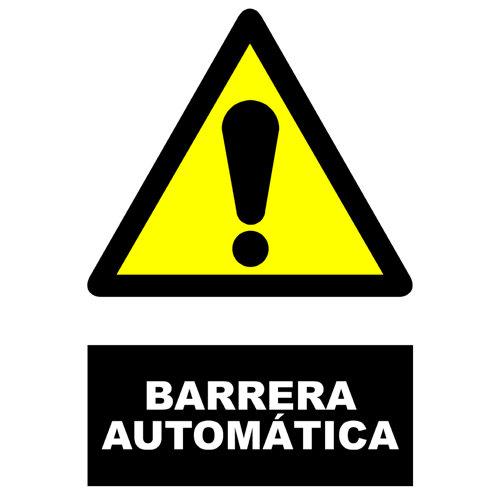 Cartel barrera automática 34x23cm