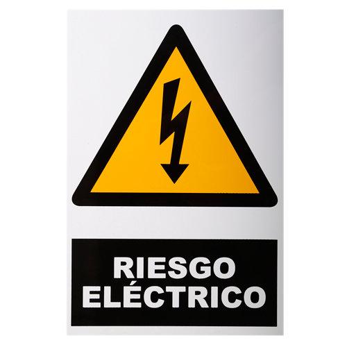 Cartel riesgo eléctrico 34x23cm