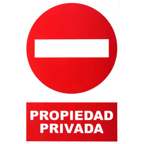 Cartel propiedad privada 34x23cm