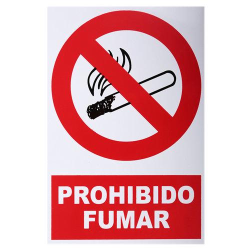 Cartel prohibido fumar 34x23cm