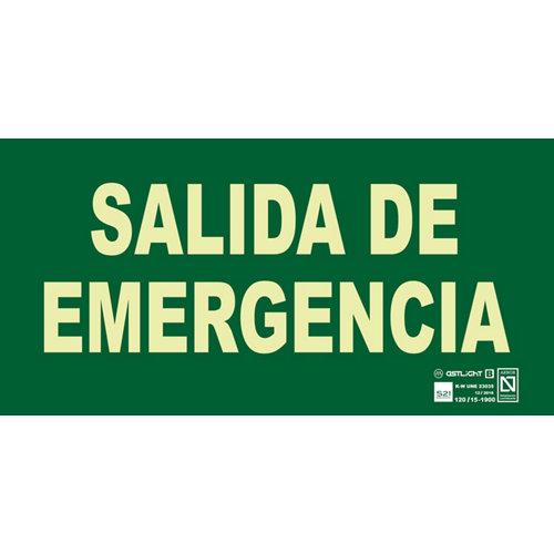Cartel salida emergencia 29x14cm