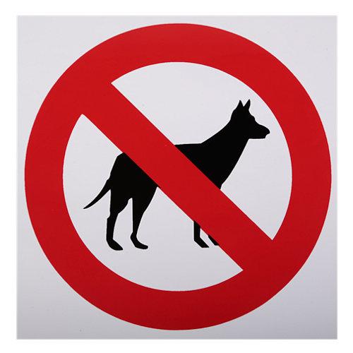 Cartel adhesivo perros no 15x15cm