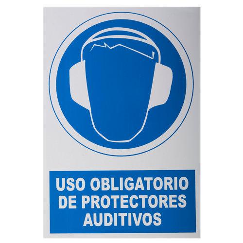Cartel protección acústica obligligatoria 34x23cm