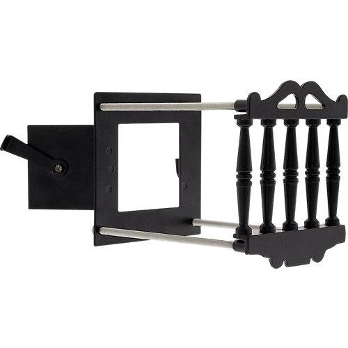 Embellecedor de mirilla de acero negro de 50-12 mm ø int.-ext.