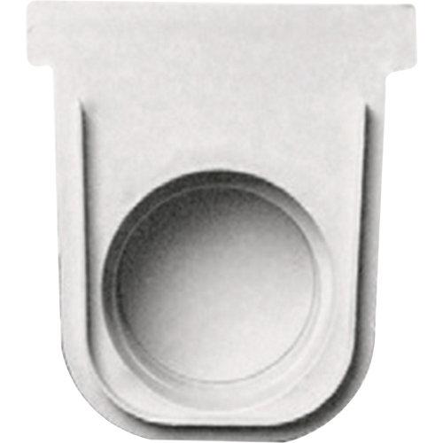 Tapón de pvc de 13x7,5 cm gris