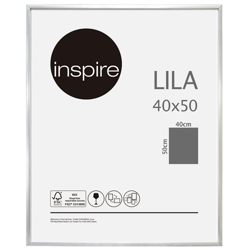 Marco lila plata 40x50 cm inspire