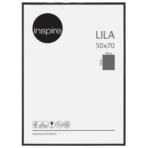 Portafotos marco plástico inspire lila negro 50x70 cm