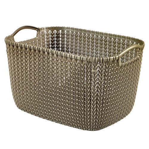 Cesta de ropa knit marrón 29.5x23.6 cm