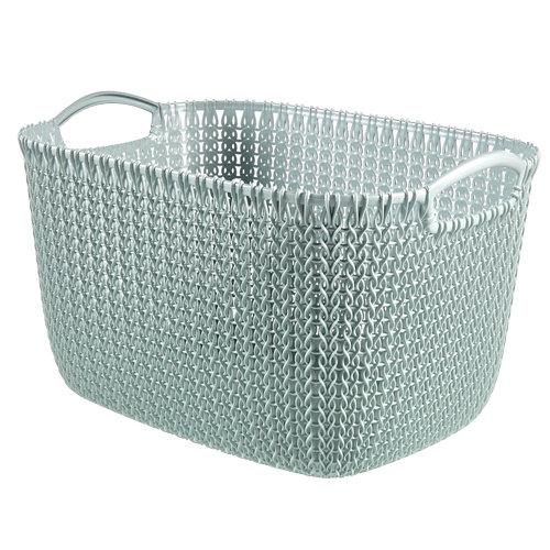 Cesta de ropa knit azul 29.5x23.6 cm