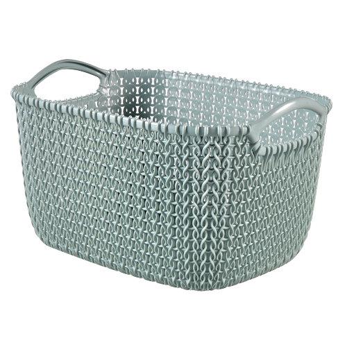 Cestillo knit azul 22.4x17.2 cm