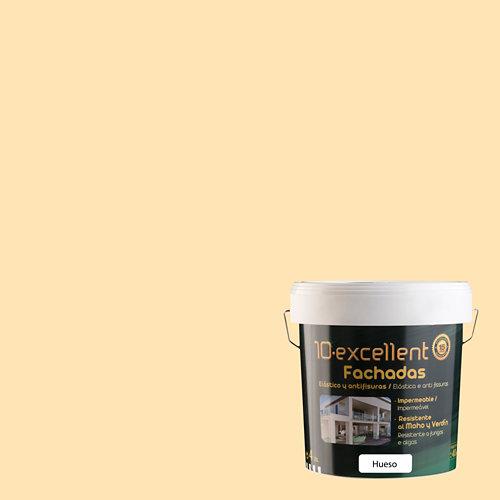 Pintura para fachadas elastica 10excellent hueso mate 4l