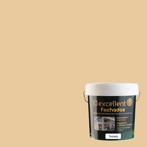 Pintura para fachadas elastica 10excellent tostado mate 4l