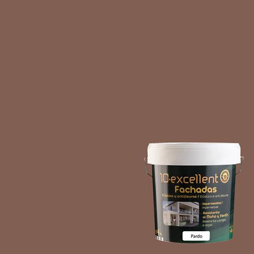 Pintura para fachadas elastica 10excellent pardo mate 4l