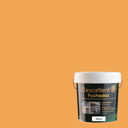 Pintura para fachadas elastica 10excellent albero mate 4l